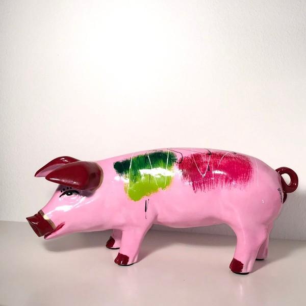 Ferkel Niki rosa abstrakt