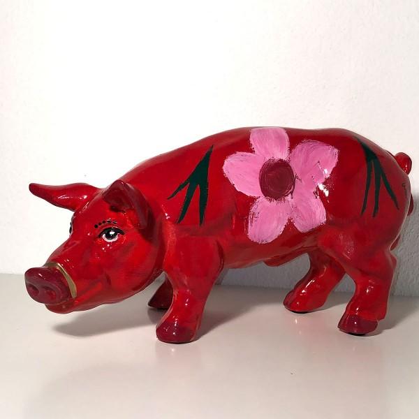 Frischling Jana rot mit rosa Blüten